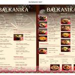 меню - Балканика
