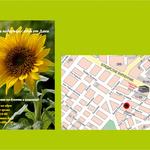 визитка - цветя Дани