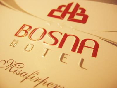 визитка - hotel Bosna (селективен лак гланц)