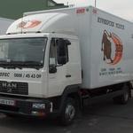 рекламен етикет на камион - Лео експрес