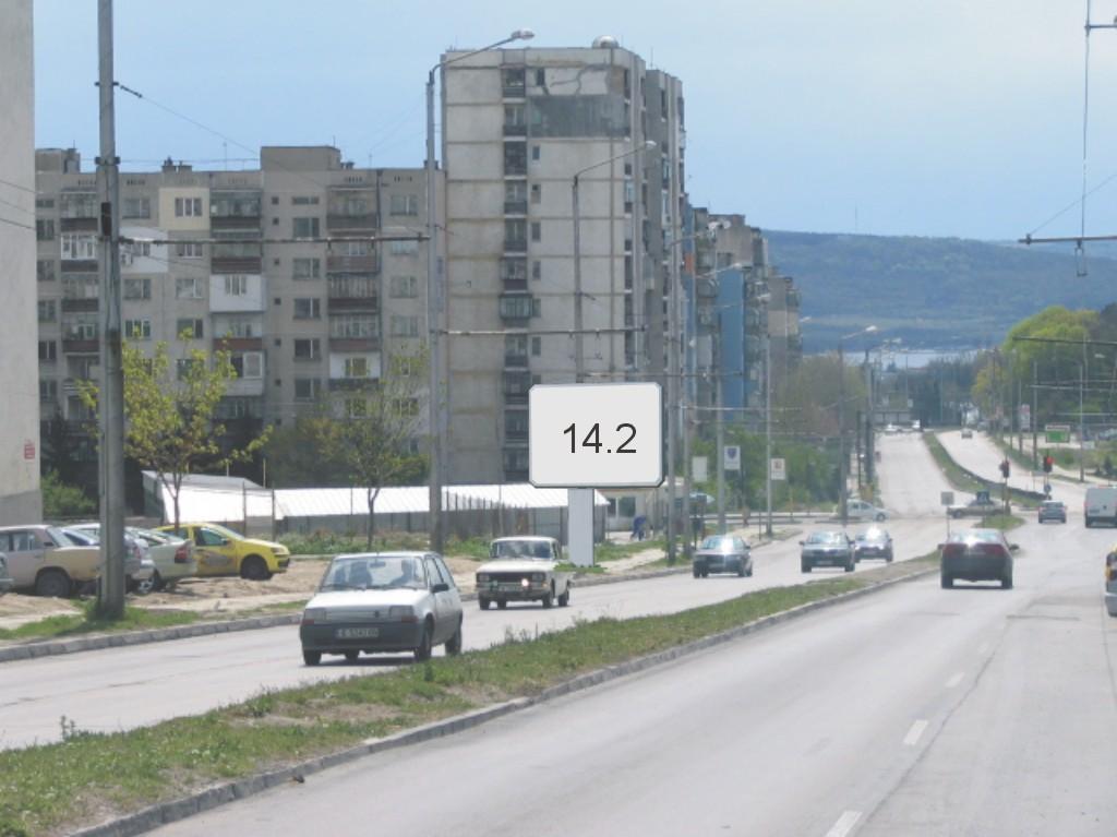 Билбордове под наем позиция 14.2: Варна, ул. Ян Хуниади - бул. Цар Освободител