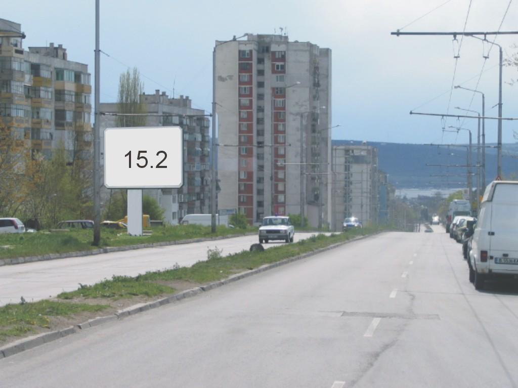 Билбордове под наем позиция 15.2: Варна, ул. Ян Хуниади - бул. Цар Освободител