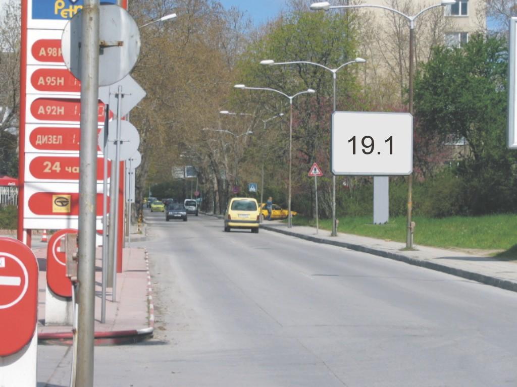 Билбордове под наем позиция 19.1: Варна, ул. Н. Вапцаров бул. Осми Приморски полк