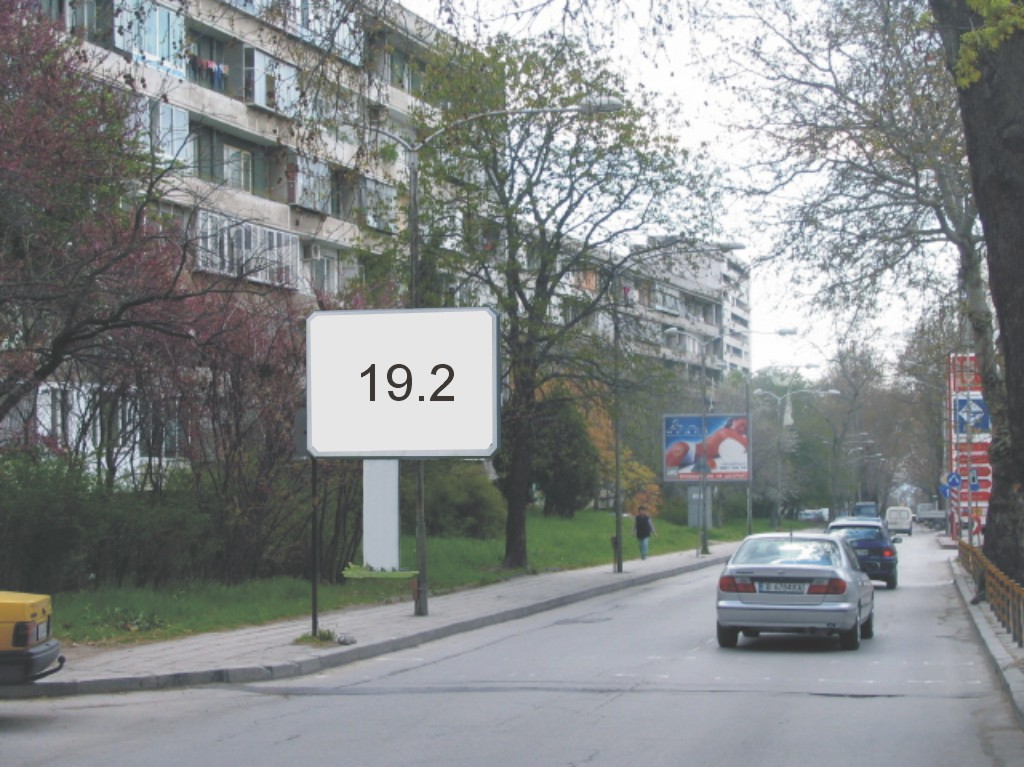 Билбордове под наем позиция 19.2: Варна, ул. Н. Вапцаров бул. Княз Борис I