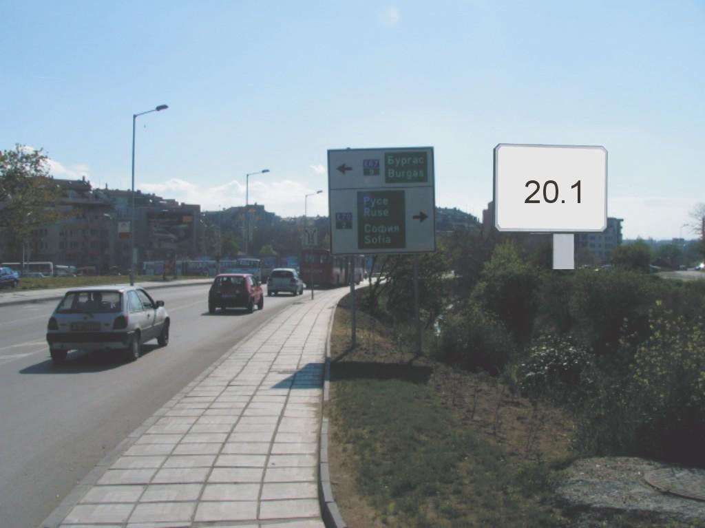 Билбордове под наем позиция 20.1: Варна, бул. В. Левски - бул. Цар Освободител