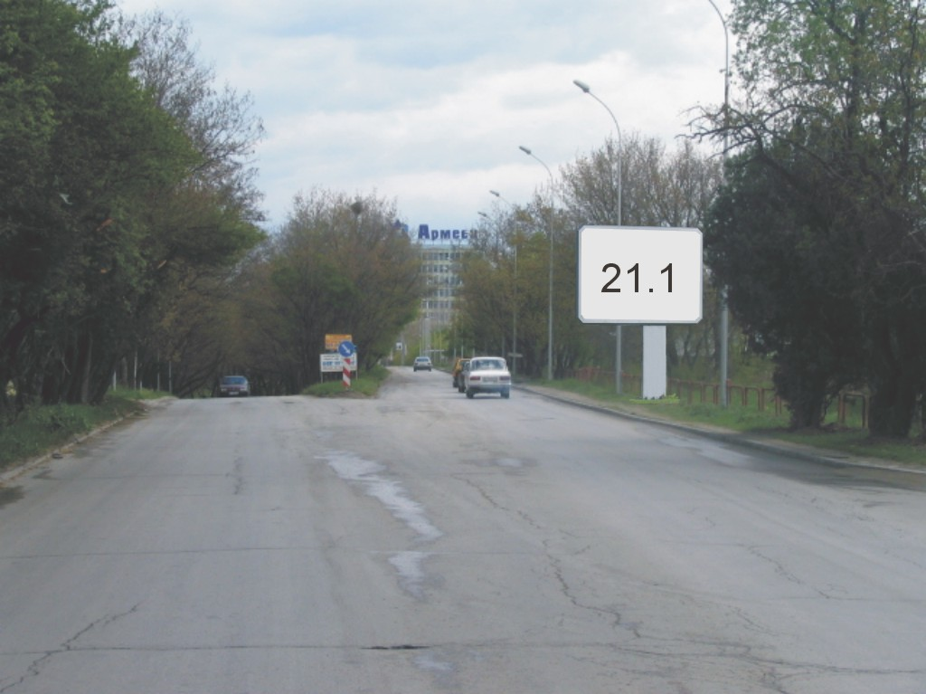 Билборд под наем позиция 21,1: Варна, ул. Мир - ул. Д-р Железкова