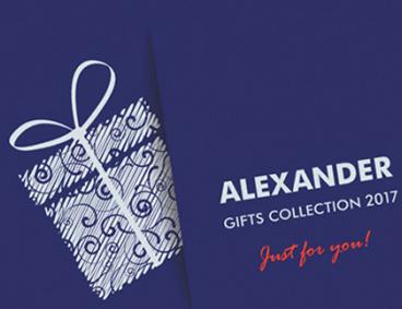 Каталог ALEXANDER 2017 - подаръци, артикули на луксозни марки, химикалки, писалки, ролери и др.