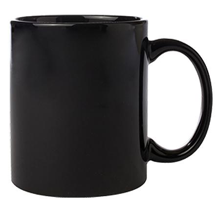 черна керамична чаша