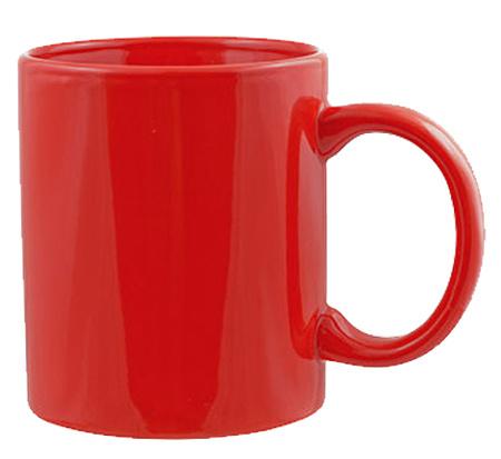червена керамична чаша