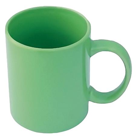 зелена керамична чаша