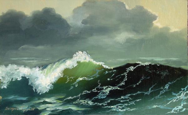 Картина маслени бои Вълна от Василий Похомов