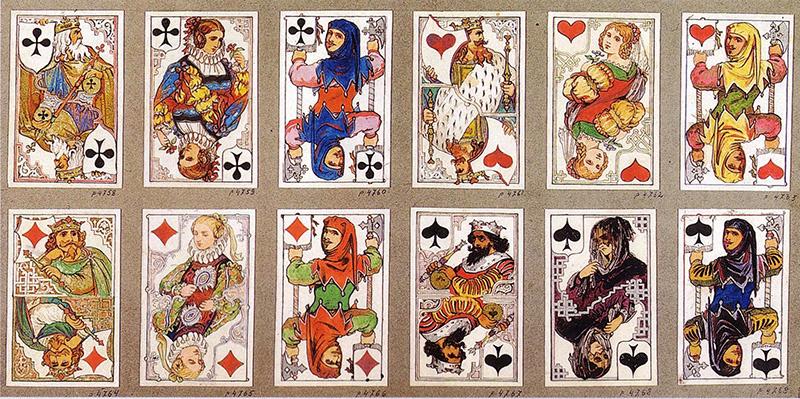 Пълноцветни карти за игра