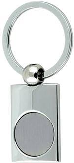 Правоъгълен метален ключодържател