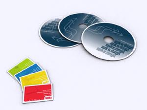 Пълноцветен печат върху компакт дискове CD. Електронни визитки от ТАНГРАМ МЕДИА ООД Варна рекламна агенция tangram.bg